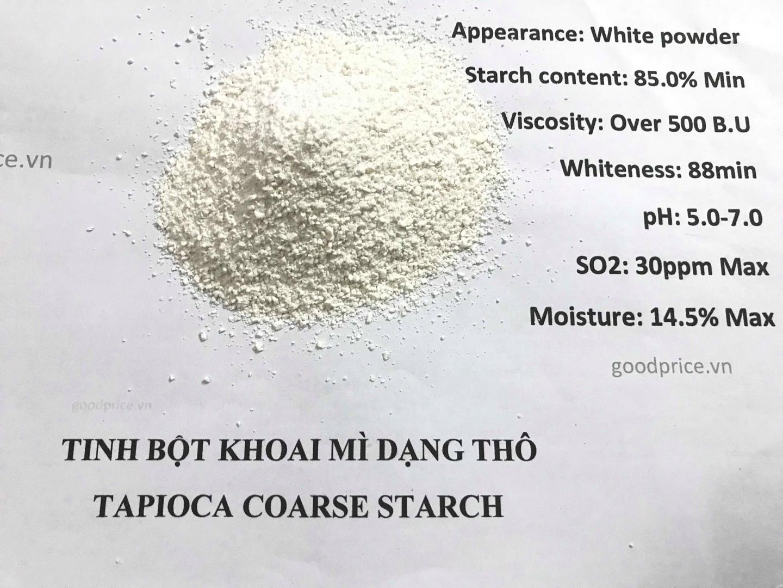 Tinh bột mì dạng hạt xuất khẩu