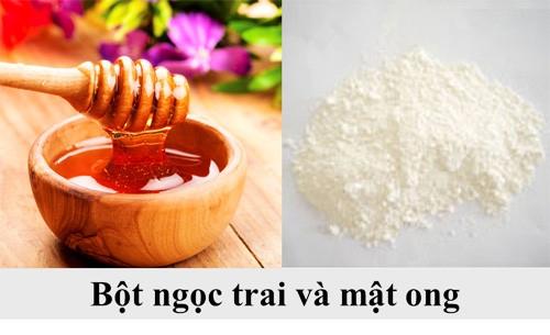 bột ngọc trai và mật ong
