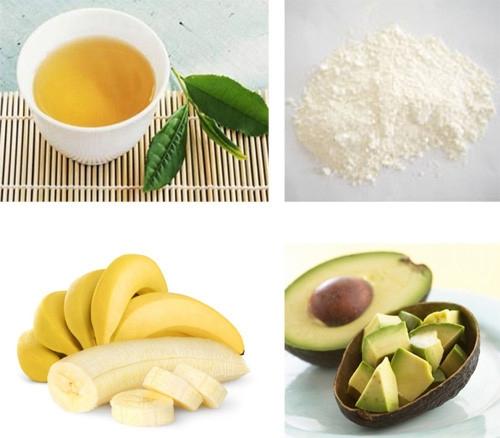 bột ngọc trai và trái cây