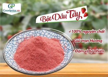 Pure strawberry powder is trusted for domestic use and export