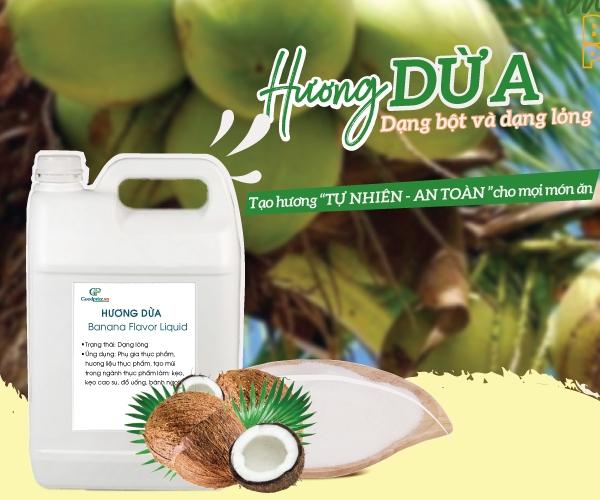 Hương dừa nhập khẩu tạo hương tự nhiên an toàn sử dụng