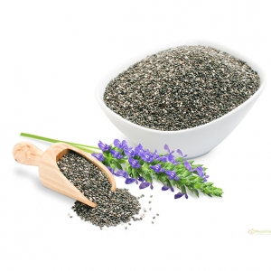 Black chia seeds from America and Australia