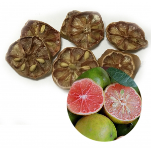 Dried lemon with rosy pulp